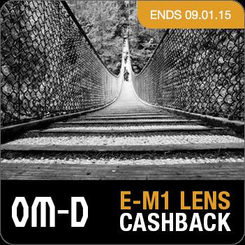 Olympus E-M1 Lens Cashback Promotion